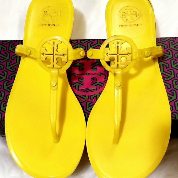 0c0c67cbe83bc Tory Burch Shoes - Tory Burch Miller Lemon T-strap Sandals L  K